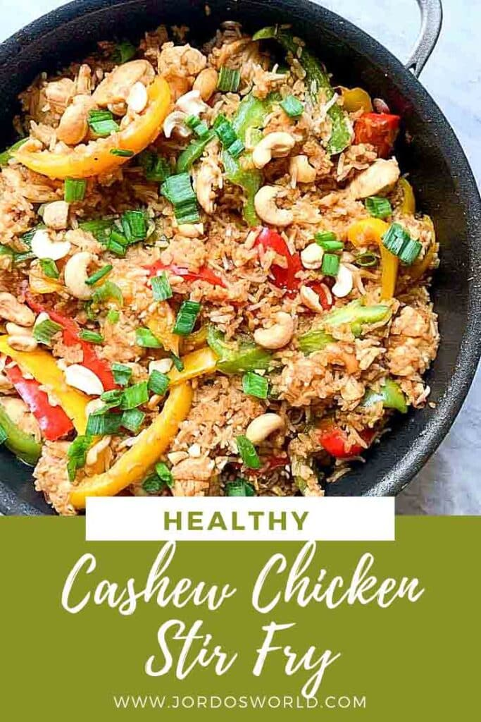 The is a pintrest pin for Cashew Chicken Stir Fry