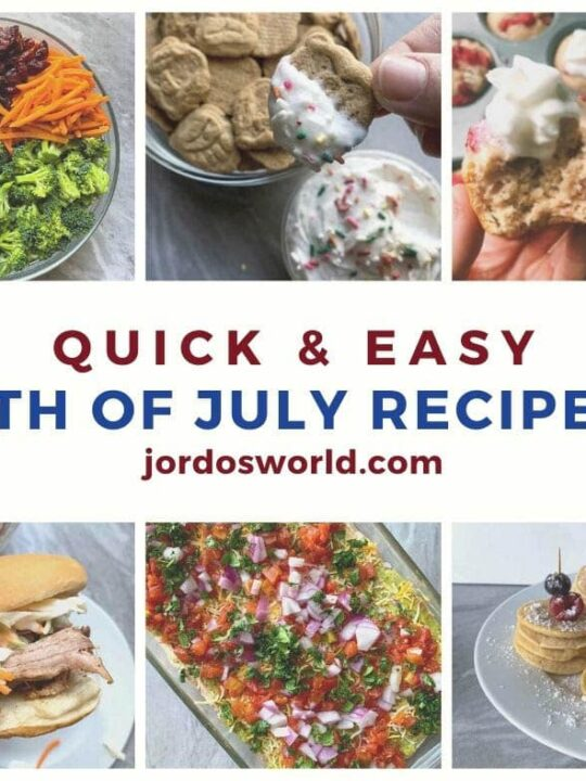 Pinterest pin for 4th of july recipes