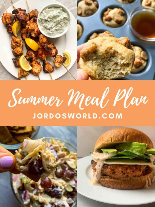 This is a meal plan collage for meal plan 10.