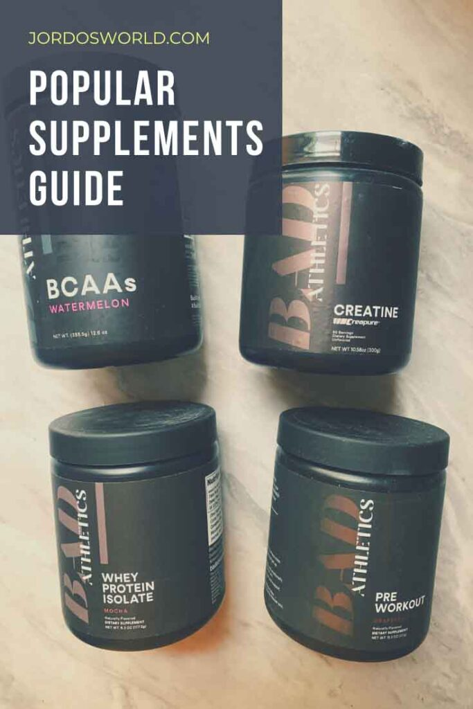 This is a pinterest pin for the supplements guide.