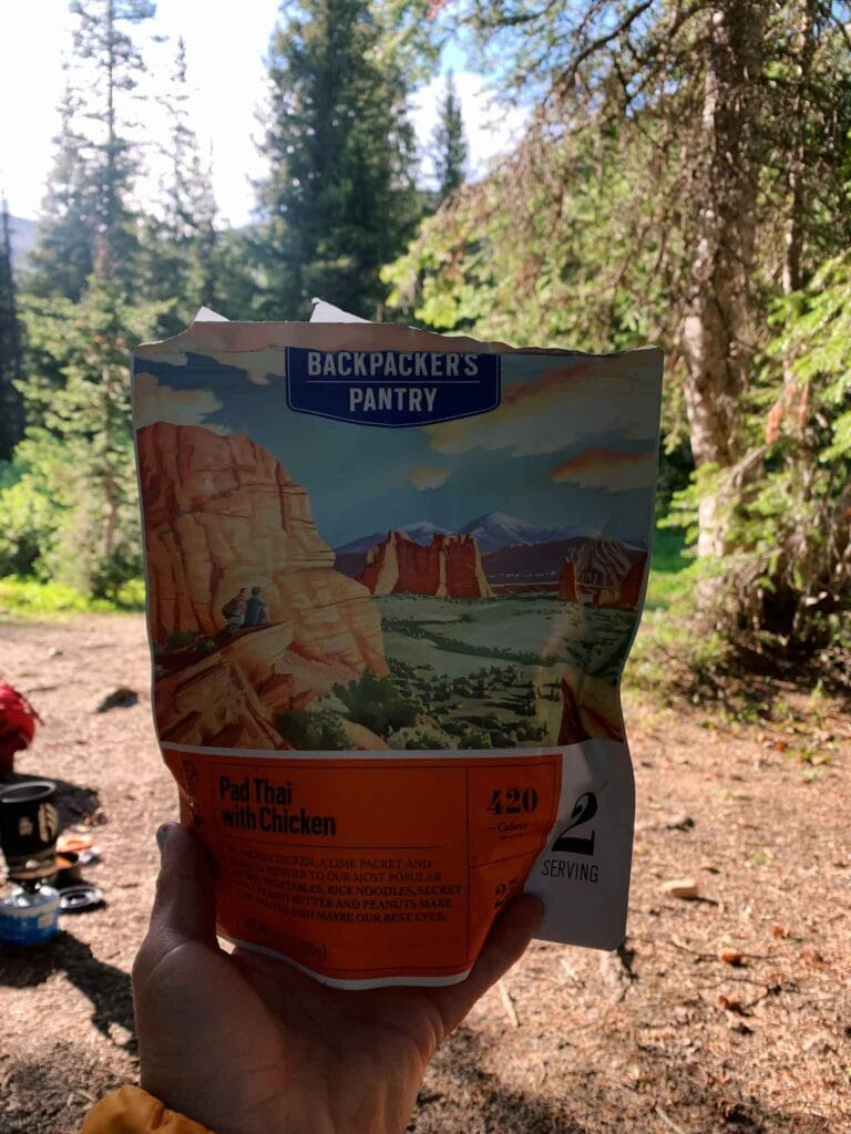 This is a picture of the backpackers pantry food I ate while backpacking.